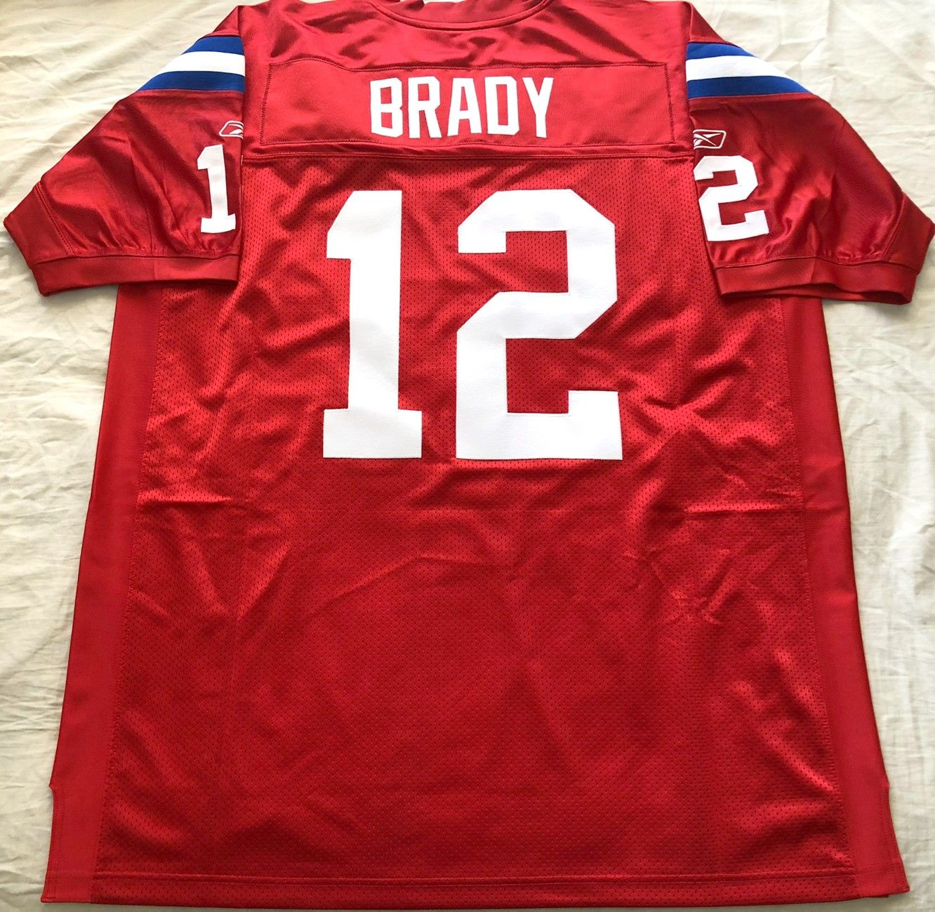 Tom Brady New England Patriots authentic Reebok 2009 red game model third jersey NEW
