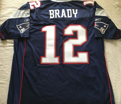 Tom Brady New England Patriots authentic Reebok game model navy blue jersey NEW
