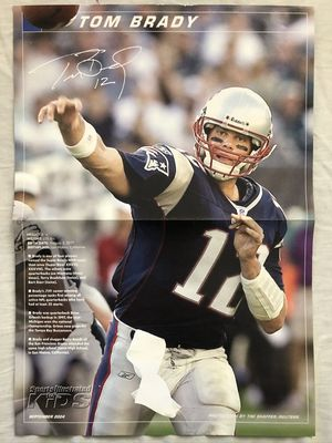 Tom Brady New England Patriots 2004 Sports Illustrated for Kids mini foldout poster