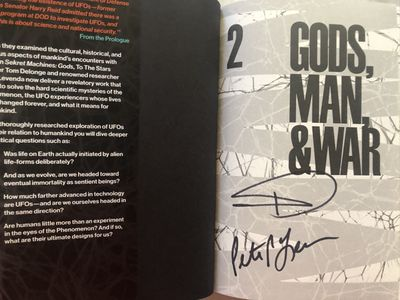Tom DeLonge autographed Sekret Machines Volume 2 Gods, Man and War hardcover book