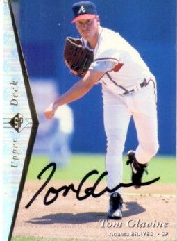 Tom Glavine autographed Atlanta Braves 1995 Upper Deck SP card