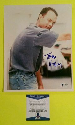 Tom Hanks autographed 8x10 vintage portrait photo (BAS authenticated)