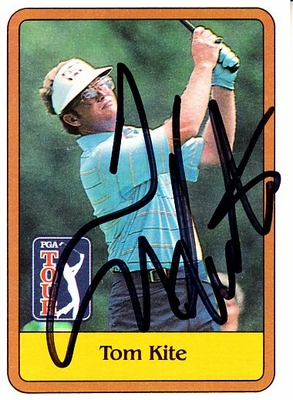 Tom Kite autographed 1981 Donruss PGA Tour golf Rookie Card