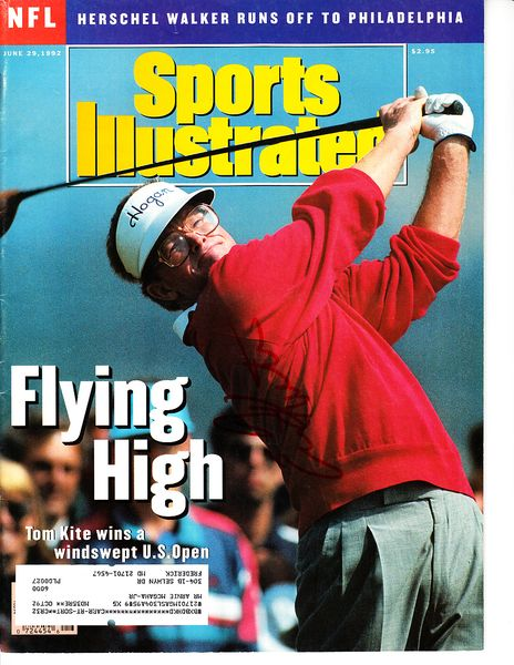 Tom Kite autographed 1992 U.S. Open Sports Illustrated