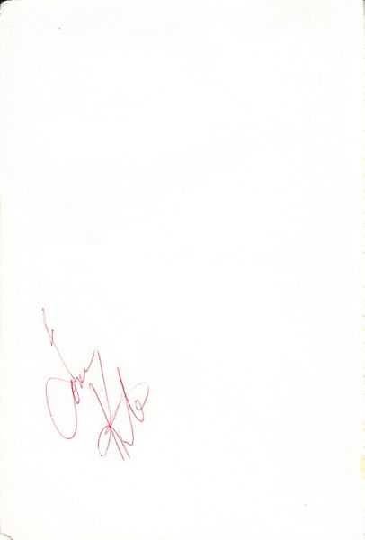 Tom Kite autographed 5x8 inch album page