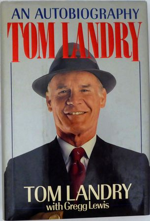 Tom Landry autographed An Autobiography hardcover book (BAS authenticated)