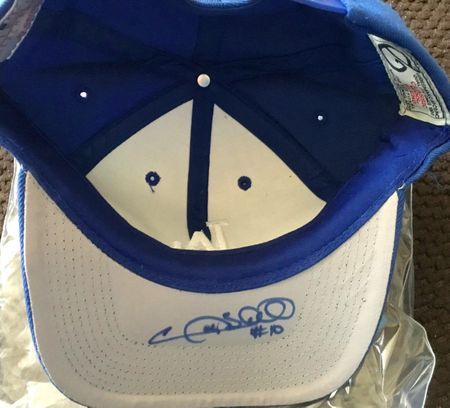 Tom Lasorda and Gary Sheffield autographed Los Angeles Dodgers cap