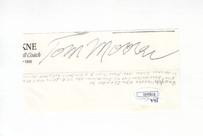 Thomas (Tom) Moorer autograph or cut signature (JSA)