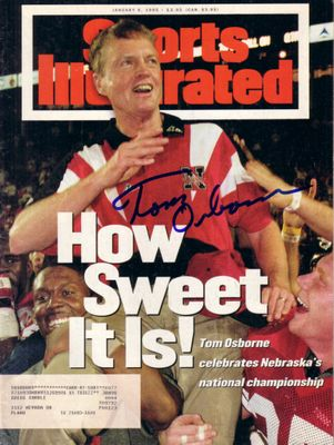 Tom Osborne autographed Nebraska Cornhuskers 1994 National Champions Sports Illustrated