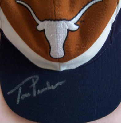 Tom Penders autographed Texas Longhorns cap or hat