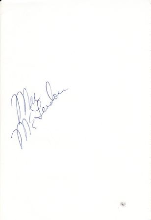 Tom Weiskopf and Mac McLendon autographed 5x8 inch album page