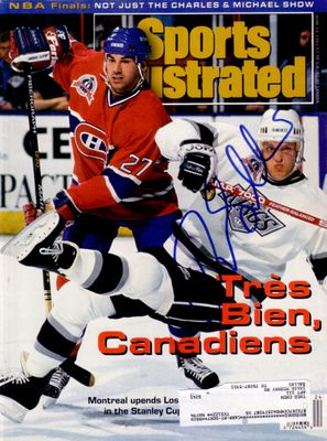 Tomas Sandstrom autographed Los Angeles Kings 1993 Sports Illustrated