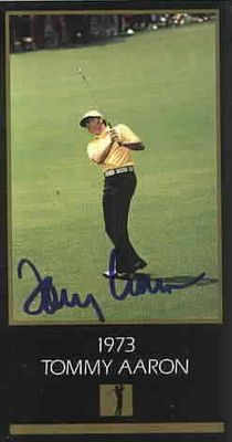 Tommy Aaron autographed 1973 Masters Champion golf card