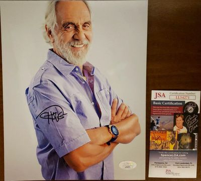 Tommy Chong autographed 8x10 portrait photo (JSA)