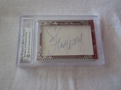 Tom Lasorda & Steve Garvey certified autograph 2012 Leaf Executive Masterpiece Dual Cut Signature card #1/1