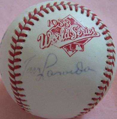 Tom Lasorda & Tony La Russa autographed 1988 World Series baseball