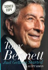 Tony Bennett autographed Just Getting Started hardcover book