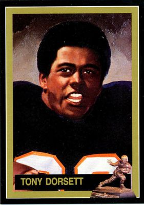 Tony Dorsett Pitt Panthers 1976 Heisman Trophy winner card