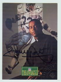 Tony Dorsett certified autograph Dallas Cowboys 1992 Pro Line Portraits card