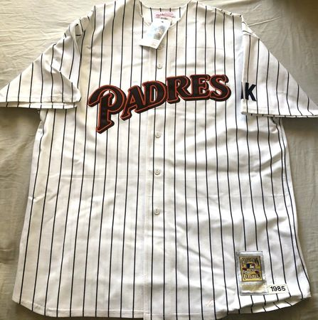 Tony Gwynn 1985 San Diego Padres authentic Mitchell and Ness home white jersey NEW WITH TAGS