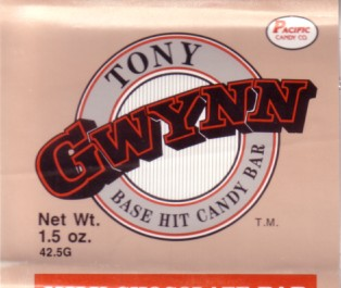 Tony Gwynn 1990 Pacific Trading Cards chocolate bar wrapper