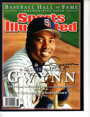 Tony Gwynn autographed 2007 Baseball Hall of Fame Sports Illustrated Commemorative Issue inscribed HOF 07