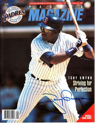 Tony Gwynn autographed San Diego Padres Magazine 1991 game program