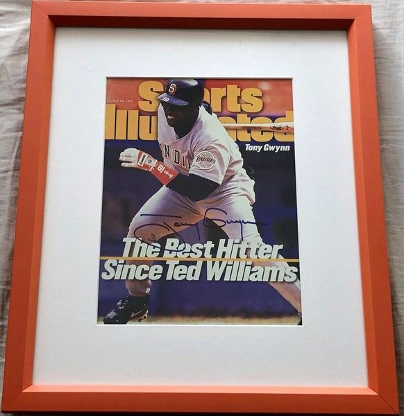 Tony Gwynn autographed San Diego Padres 1997 Sports Illustrated cover matted and framed