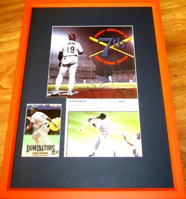 Tony Gwynn autographed San Diego Padres 7th Batting Title photo matted & framed