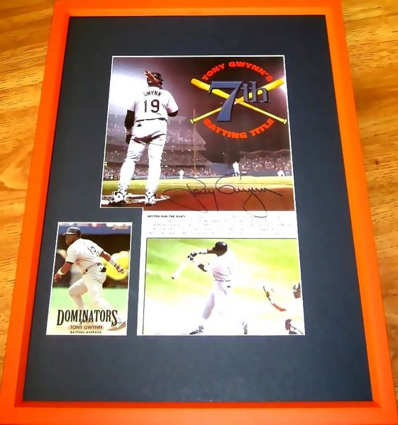 Tony Gwynn autographed San Diego Padres 7th Batting Title photo matted and framed