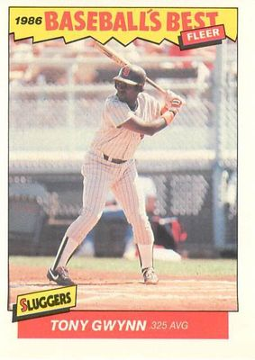 Tony Gwynn San Diego Padres 1986 Fleer Sluggers vs Pitchers card