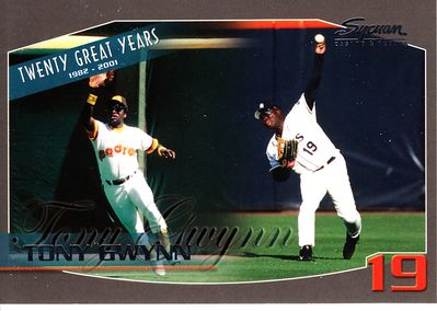 Tony Gwynn San Diego Padres 20 Great Years 2003 Sycuan jumbo baseball card