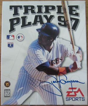Tony Gwynn autographed San Diego Padres Triple Play 97 baseball video game