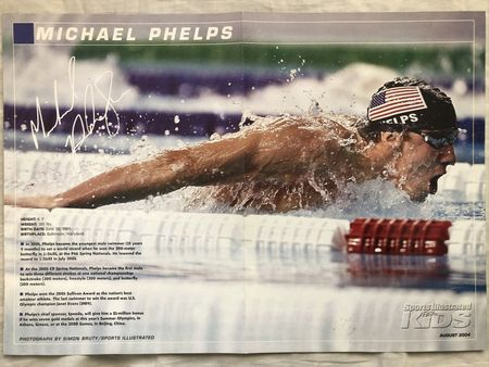 Tony Hawk and Michael Phelps 2004 Sports Illustrated for Kids double sided mini poster