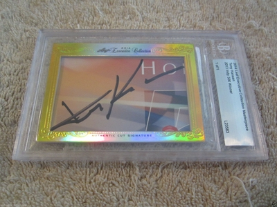 Tony Kanaan 2014 Leaf Masterpiece Cut Signature certified autograph card 1/1 JSA