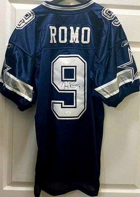 Tony Romo autographed Dallas Cowboys 2005 2006 authentic Reebok stitched blue jersey (JSA)