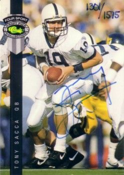 Tony Sacca certified autograph Penn State 1992 Classic card