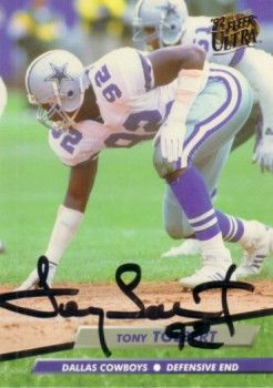 Tony Tolbert autographed Dallas Cowboys 1992 Ultra card