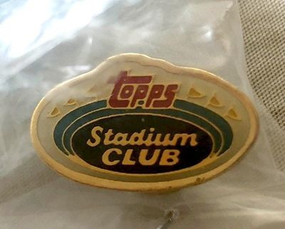 Topps Stadium Club logo gold lapel pin NEW