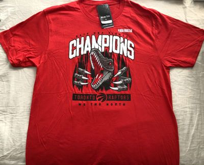 Toronto Raptors 2019 NBA Champions red T-shirt BRAND NEW WITH TAGS