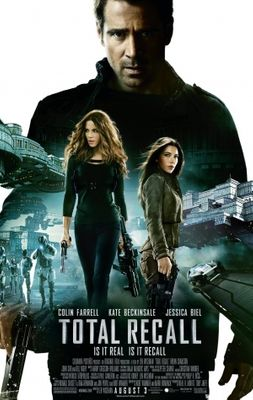 Total Recall 2012 mini movie poster (Kate Beckinsale Jessica Biel Colin Farrell)