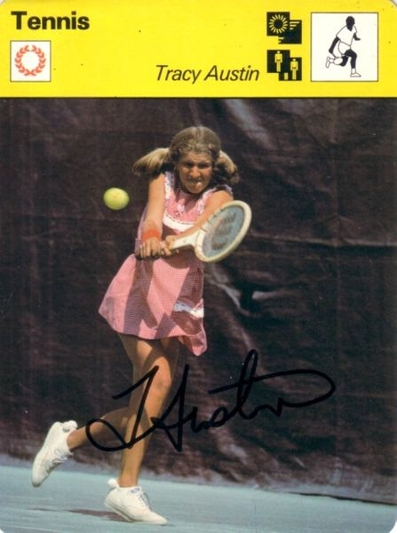 Tracy Austin autographed 1978 Sportscaster Rookie Card