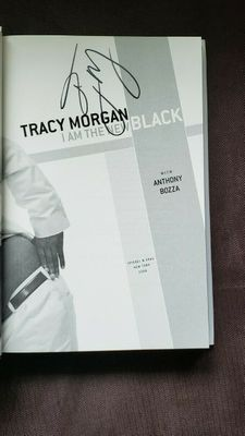 Tracy Morgan autographed I Am The New Black hardcover book