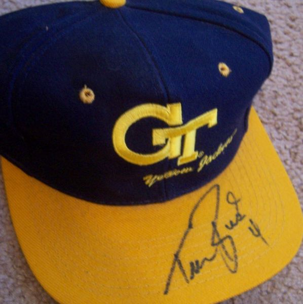 Travis Best autographed Georgia Tech Yellow Jackets cap or hat