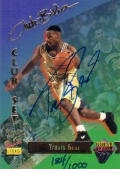 Travis Best certified autograph Georgia Tech 1995 Signature Rookies card #184/1000
