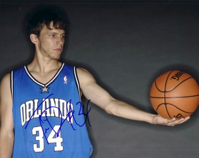 Travis Diener autographed Orlando Magic 8x10 photo