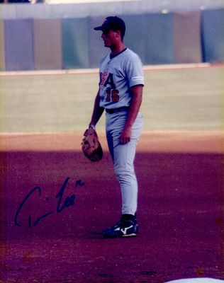 Travis Lee autographed 1996 USA Olympic Baseball Team 8x10 photo