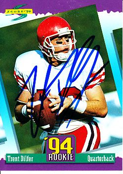 Trent Dilfer autographed 1994 Score Rookie Card