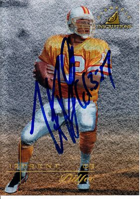 Trent Dilfer autographed Tampa Bay Buccaneers 1997 Pinnacle card