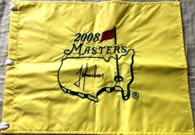 Trevor Immelman autographed 2008 Masters golf pin flag